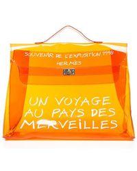 Hermes Pre-Owned Orange Vinyl Souvenir D' Exposition Kelly Bag - Lyst