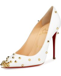 Christian Louboutin Degraspike Studded Point-Toe Red Sole Pump - Lyst