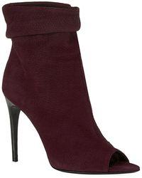 Burberry Burlison Nubuck Peep Toe Ankle Boots - Lyst