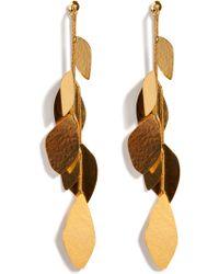 Herve Van Der Straeten Hammered Gold-Plated Facet Earrings - Lyst