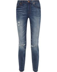 Madewell The High Riser Distressed Skinny Jeans - Lyst
