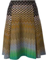 Missoni Chevron Print Mini Skirt - Lyst