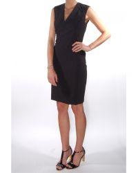 Rebecca Taylor Sleeveless V-Neck Shift Lace Dress - Lyst