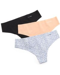 Calvin Klein Invisibles Thong 3 Pack  - Lyst