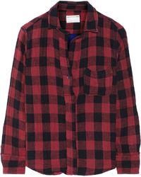 Rag & Bone The Leeds Plaid Woven Cotton Top - Lyst
