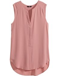 H&M Sleeveless Blouse - Lyst