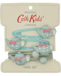Cath Kidston - Turquoise Tea Cup Hair Set - Lyst