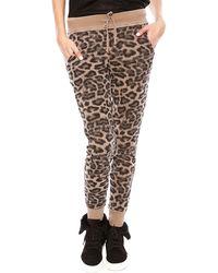 Splendid Distressed Leopard Sweatpant - Lyst