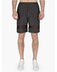 T By Alexander Wang Men'S Grey Relaxed Shorts gray - Lyst