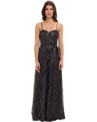 Laundry By Shelli Segal Gold Chiffon Gown - Lyst