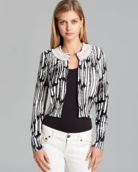 Tracy Reese - Cardigan Scalloped Striped Beaded - Lyst