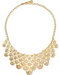 R.j. Graziano Crystal Metal Mesh Bib Necklace - Lyst