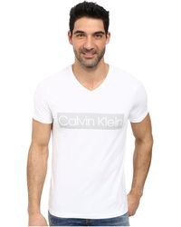 Calvin Klein Logo T-Shirt white - Lyst