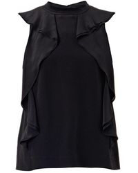Marc By Marc Jacobs Frances Silk Ruffle Blouse - Lyst