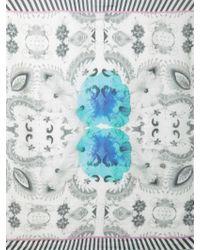 Athena Procopiou - Naked In Sri Lanka-Print Fine-Knit Scarf - Lyst