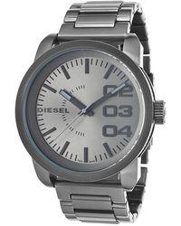 Diesel Mens Franchise Grey Dial Grey Ip Stainless Steel - Lyst