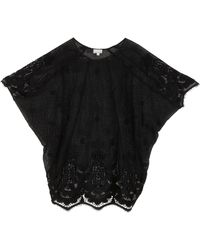 Miguelina Jessica Scallop Lace Kaftan - Lyst