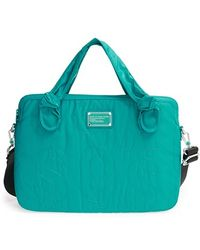 Marc By Marc Jacobs Women'S 'Computer Commuter' Bag - Blue/Green (15 Inch) - Lyst