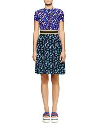Stella McCartney Mixed Blossom-print Fit-and-flare Dress - Lyst