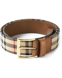 Burberry Horseferry Check Belt - Lyst