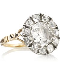 Olivia Collings - 1860S 18-Karat Gold Diamond Ring - Lyst