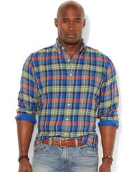 Ralph Lauren Polo Big and Tall Classic-fit Double-faced Plaid Shirt - Lyst