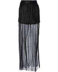 Haider Ackermann Ruffled Sheer Skirt - Lyst