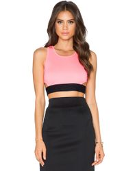 Milly Tech Cut-Out Crop Top - Lyst