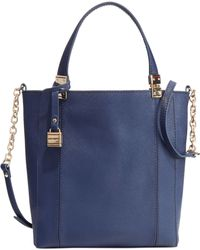 Tommy Hilfiger Th Hinge Saffiano Convertible Small Ns Tote - Lyst