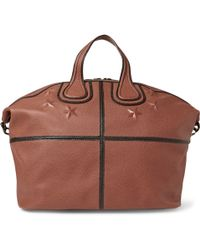 Givenchy Nightingale Star-embossed Textured-leather Holdall - Lyst