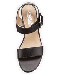 Andrew Stevens | Rachel Clouded Heel City Sandal Black | Lyst