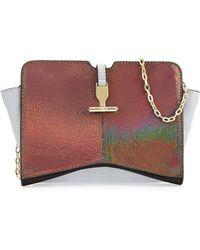 Pour La Victoire Zoe Metallic Leather Crossbody Bag - Lyst