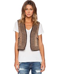 Gypsy 05 Embroidered Vest - Lyst
