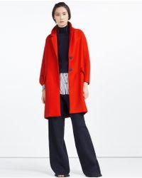 Zara | Coat With Flap Pockets | Lyst