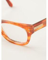 Yves Saint Laurent Vintage Oval Frame Glasses - Lyst