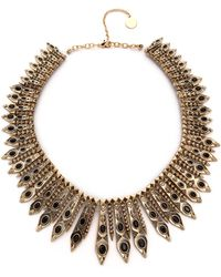 House Of Harlow Gypsy Feather Necklace Goldblack - Lyst