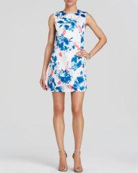 Cynthia Steffe Dress - Maggie Sleeveless Floral Print Shift - Lyst