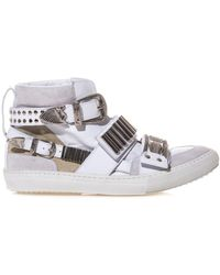 Toga Pulla - Embellished Leather and Suede Trainers - Lyst