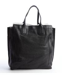 Chloé Black Leather Shopper Tote - Lyst