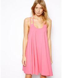 Asos Swing Dress with Strap Back - Lyst