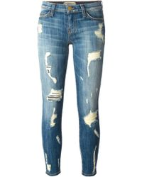 Current/Elliott The Stiletto Cropped Skinny Jeans - Lyst