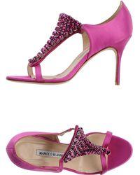 Manolo Blahnik Sandals - Lyst