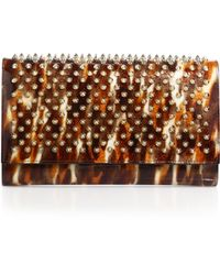 Christian Louboutin | Paloma Spiked Convertible Patent Leather Clutch | Lyst