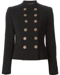 Versace Gold Button Jacket - Lyst