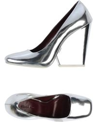 Celine Silver Sandals - Lyst