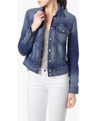 7 For All Mankind Denim Jacket With Distress - Lyst