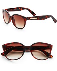 d0bf696129 Adrienne Vittadini - Rounded Cats-eye Sunglasses - Lyst