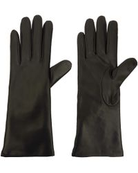 Portolano Medium Black Basic Leather Gloves - Lyst