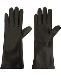 Portolano Medium Black Basic Leather Gloves black - Lyst