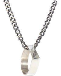 Loren Stewart - Silver Pendant & Chain - Lyst